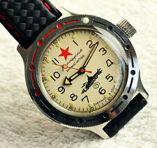 RUSSIAN MILITARY WATCH DIVER AMPHIBIAN VOSTOK USSR SOVIET CCCP 1980's Submariner