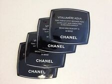 Lot of 4 CHANEL Vitalumiere Aqua Skin Perfecting Makeup SPF15, 30 BEIGE Samples