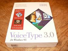 IBM VoiceType 3.0 for Windows 95 New Sealed PC CD-ROM 1997 UK English Voice Type
