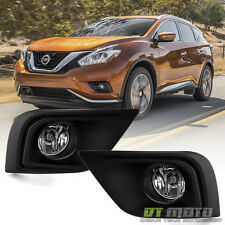 Fits 2015-2017 Murano Factory Style Bumper Fog Lights Driving Lamps+Switch+Cover