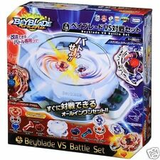 TAKARA TOMY JAPAN BEYBLADE Burst B-18 VS Battle SET+Launcher x2 +Grip x2+Stadium