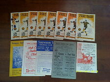 X13-port vale 1958/59 (champs) football programme collection/job lot 1950s