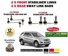 FOR MERCEDES W164 2005-- ON NEW 2x FRONT + 2x REAR STABILISER SWAY LINK BAR SET