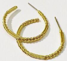 boucles d'oreilles percees anneaux bijou vintage couleur or effet diamanté *3638