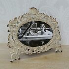 Cream Metal Photo Frame In Shabby Chic Vintage French Antique Style Gift