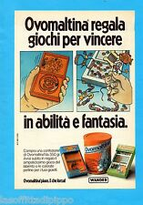 ALTOP981-PUBBLICITA'/ADVERTISING-1981- OVOMALTINA WANDER