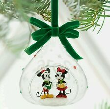 Disney Mickey and Minnie Mouse Glass Sketchbook Ornament Christmas 2016
