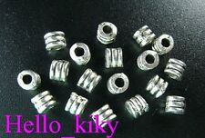 400Pcs  Tibetan silver screw tube spacer bead A334