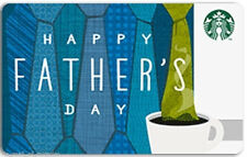 Starbucks Fathers Day Card 2014  Brand New Limited Edition