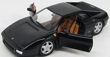 FERRARI 348 TB BLACK 1989 HOTWHEELS X5530 1/18 MATTEL 1:18 NOIRE NOIR