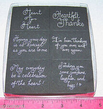 Close to my Heart Foam Stamp Set Thanks Heart to Heart Thinking of you 6 pieces