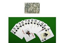 ACU digital military camouflage backed standard poker game playing card set new