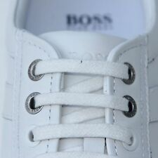 $225 HUGO BOSS White Leather Fashion Sneakers Mens Shoes 11 44 Kicks Golf 44.5
