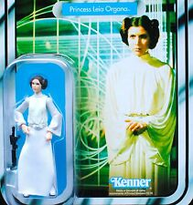 Star Wars Carrie Fisher Vintage Retro VOTC Princess Leia Safety Text Variant MOC