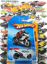 Hot Wheels 2010 #018 Ducati 1098R WHITE,2ND COLOR EDITION,NEW MODEL,MCPR5,INTL