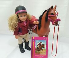 Our Generation Thoroughbred Horse and Lilly Anna Set Equestrian doll