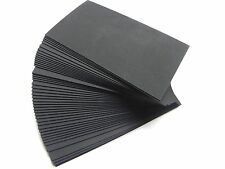 100 ct. Black Blank Business Cards 80 lb.Cover - 3.5 x 2 Wedding place cards