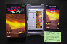 OUTER WORLD another world Nintendo Super Famicom JAPAN Good.Condition
