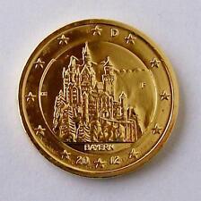 + + 2 euro 2012-Baviera/Neuschwanstein - 24 quilates dorado + +