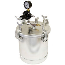 2-1/2 Gallon PRESSURE FEED PAINT TANK POT for SPRAY GUN SPRAYER Regulator Gauge