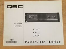 QSC PL-3.4 , PL-4.0 , PL-3.8 POWERLIGHT SERIES OWNERS MANUAL #1