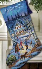 Counted Cross Stitch Kit CHRISTMAS EVE FUN STOCKING Dimensions Gold Collection