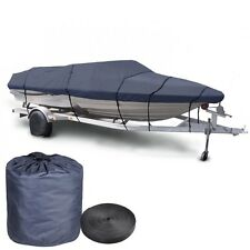 "600D V-Hull Fish Ski Boat Cover Trailerable 16 17 18' Beam 95"" w Oxford Bag Blue"