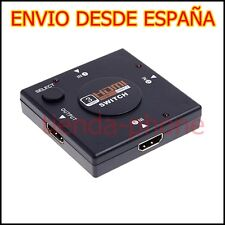 Multipuerto HDMI Switch 3 puertos 1080P Ladron Splitter para Tv monitor ps3 xbox