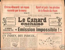 CANARD ENCHAINÉ Birthday Newspaper JOURNAL NAISSANCE 1 DECEMBRE DECEMBER 1982
