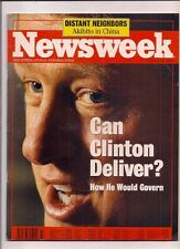 NEWSWEEK magazine-oct 26,1992-CAN CLINTON DELIVER?