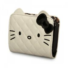 NWT Loungefly Hello Kitty Cream/Black Face w/Ears Faux Leather Appliqued Wallet