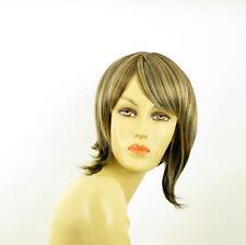 Perruque femme méchée courte blond clair méché cuivré chocolat  CAROLE 15613H4