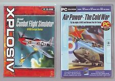 MICROSOFT COMBAT FLIGHT SIMULATOR WWII EUROPE - PC GAME + AIR POWER THE COLD WAR