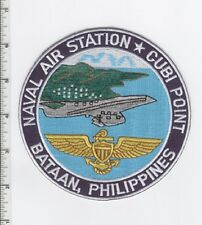 US NAVAL AIR STATION NAS CUBI POINT BATAAN, PHILIPPINES MILITARY PATCH