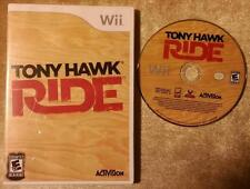Wii Tony Hawk Ride Case & Insert in Good cond Disc in VG++ to EX Condition  D