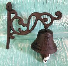 Door Bell Dinner Bell Wall Mount Black Cast Iron Rustic Vintage New Old Fashion