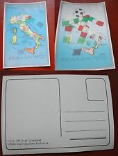 CARTOLINA ITALIA '90 FIFA WORLD CUP - CALCIO - COPPA DEL MONDO 1990 3D