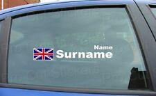 RALLYE COURSE nom fenêtre badge Union Jack Angleterre Écosse Drapeau Autocollant x1
