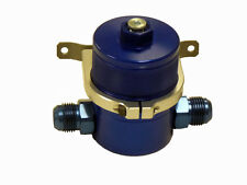 OBX Air Oil Separator Universal Billet Blue Natural Male Fitting -12AN In / Out