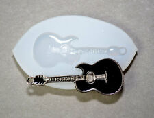 GUITAR Silicone Mould sugarcraft  fimo, resin polymer clay food use mold plaster
