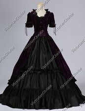 Renaissance Gothic Gown Dress Punk Witch Ghost Vampire Halloween Costume V 061 M