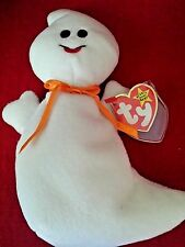 TY BEANIE BABIES SPOOKY STYLE # 4090 THE GHOST HALLOWEEN DEUTSCHLAND TAG PVC