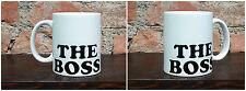 Tazza Mug ceramica bianca the boss il boss TZG017