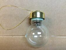 Mini water globe ornaments glass goldtone caps gasket snow Lot of 6