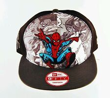 Unisex Marvel Comics Spider-Man Baseball Cap Black Cloth Embroidered Snapback