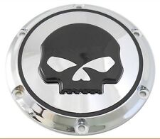 HARLEY DAVIDSON Chrome With Black Willie G Skull Derby Cover XL Sportster 04+
