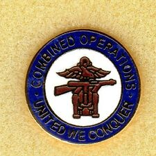 Enamel Lapel Badge  Combined Operations