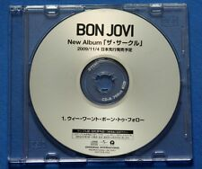 BON JOVI We Weren't Born To Follow 2009 Japan DJ CD Single