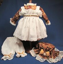 Handmade Four Piece Golden Leaves - Raggedy Ann Outfit – 18-20 Inches