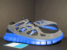 2013 Nike FREE RUN II 2 EXT BLACK HYPER BLUE GREY 555174-044 NEW 12